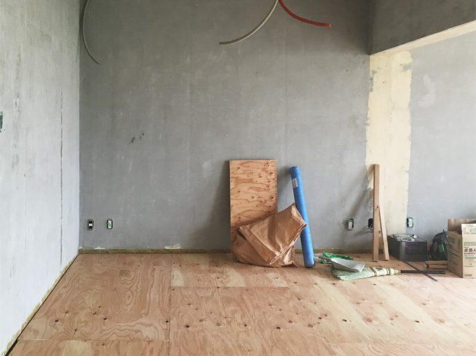 【名古屋市昭和区I様邸】大工工事1:床下地貼り