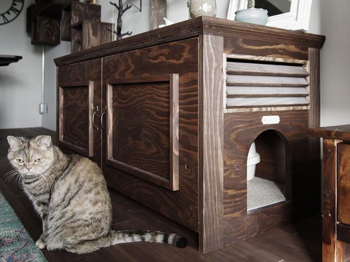 猫トイレ家具