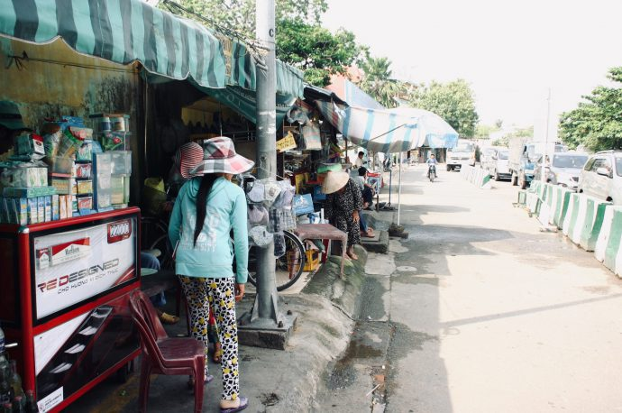 【旅の記録】船着場と路面店 @ホーチミン ベトナム