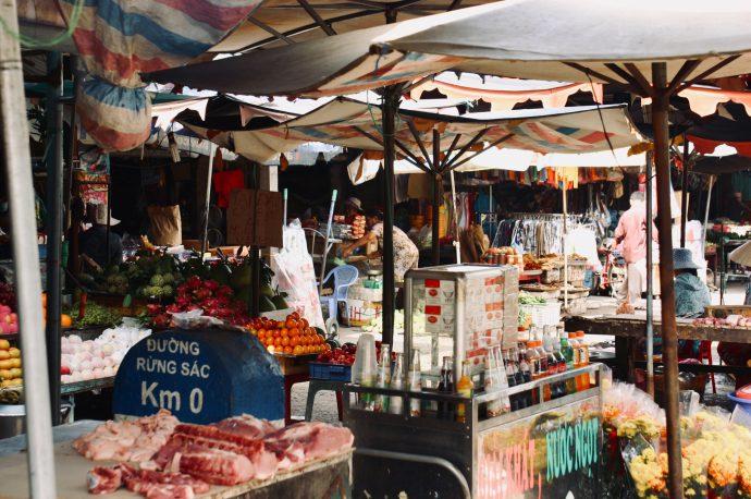 【旅の記録】船着場の市場 @ドンナイ省 ベトナム