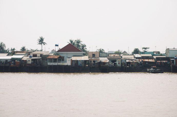 【旅の記録】川沿いの街並み @ドンナイ省 ベトナム