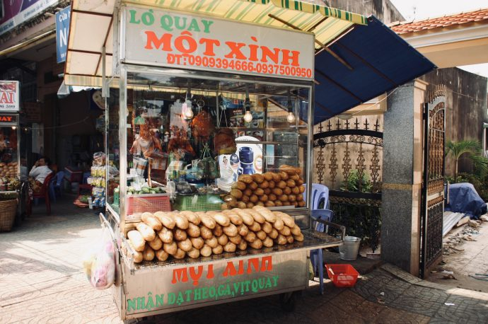 【旅の記録】バインミーの屋台 ドンナイ省 ベトナム