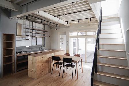 WORKS 119「GARDEN KITCHEN BAR」名古屋市熱田区 – 一戸建てリノベーション