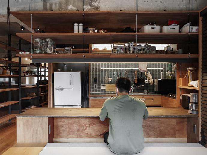 オーダーメイド or 既製品活用 キッチン造作収納のアイデア