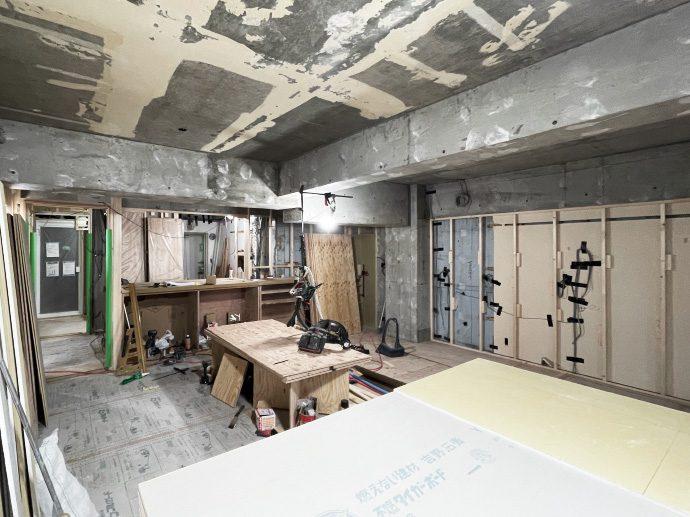 【名古屋市東区K様邸マンションリノベーション】大工工事4:収納造作