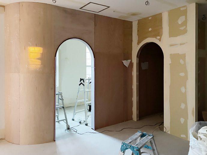 【スタジオ・ポージィ(名古屋市緑区・フォトスタジオ)】大工工事完了&塗装工事