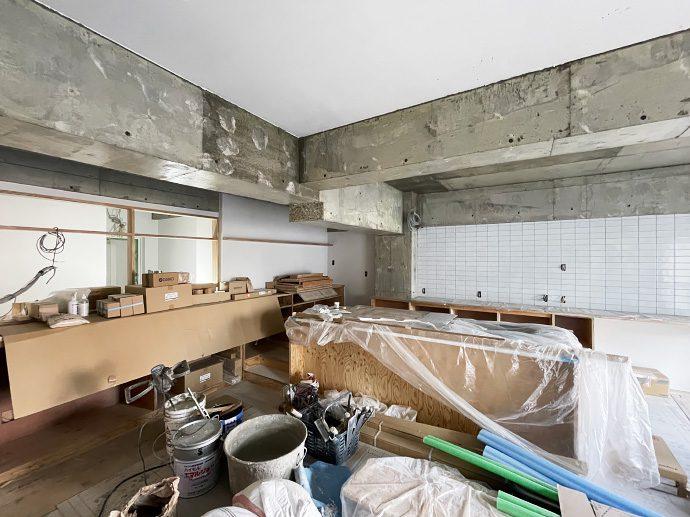 【名古屋市東区K様邸マンションリノベーション】左官工事
