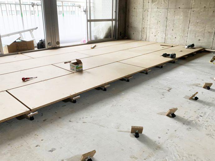 【東京都品川区S様邸マンションリノベーション】大工工事:二重床施工